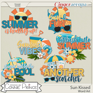 Sun Kissed - WordArt Pack by Connie Prince
