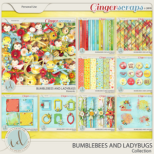 Bumblebees And Ladybugs Collection by Ilonka's Designs