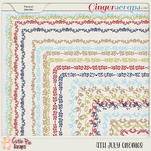 4Th July Gnomes Page Borders