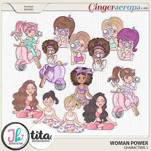 Woman Power Characters 1 by JB Studio and Tita