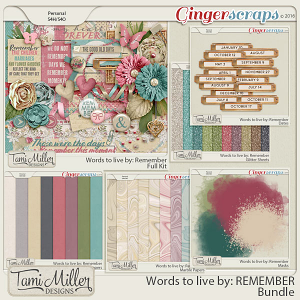 Words to live by Remember Bundle by Tami Miller Designs