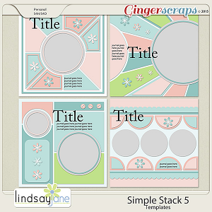 Simple Stack 5 Templates by Lindsay Jane