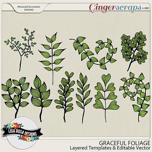 Graceful Foliage CU/PU Layered Templates by Lisa Rosa Designs