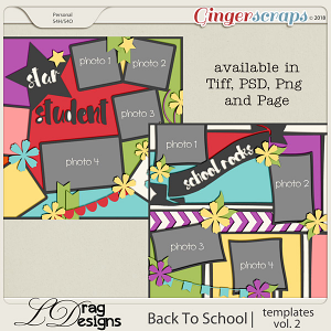 BackTo School: Templates Vol.2  by LDrag Designs