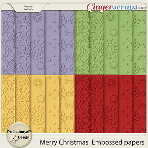 Merry Christmas Embossed papers
