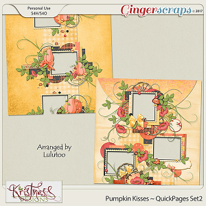 Pumpkin Kisses QuickPages Set2