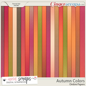 Autumn Colors - Ombre Papers - by Neia Scraps
