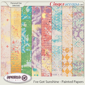 I've Got Sunshine - Painted Papers by Aprilisa Designs