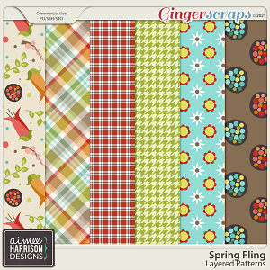 Spring Fling Layered Patterns by Aimee Harrison