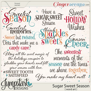 Sugar Sweet Season {Word Art} by Jumpstart Designs