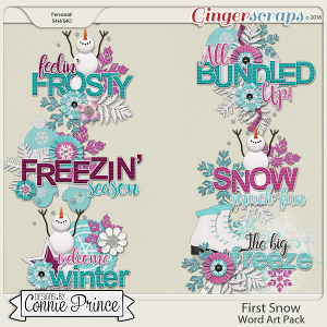 First Snow - Word Art Pack