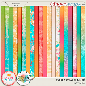 Everlasting Summer Artsy & Ombré Papers by JB Studio and Neia Scraps