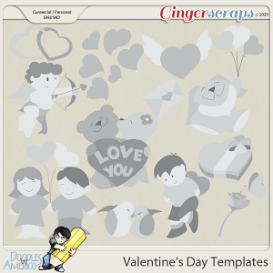 Doodles By Americo: VAlentine's Day Templates