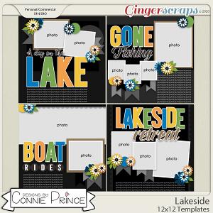 Lakeside - 12x12 Templates (CU Ok) by Connie Prince