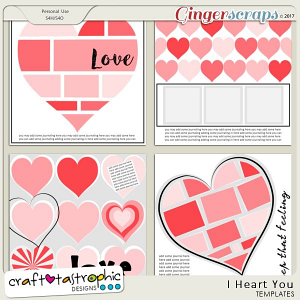 Craft-Templates I Heart You