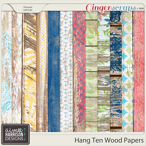 Hang Ten Wood Papers by Aimee Harrison