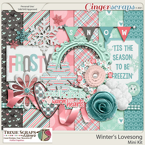 Winter's Lovesong Digital Scrapbooking Mini Kit
