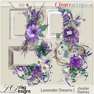 Lavender Dreams: Cluster Frames by LDragDesigns