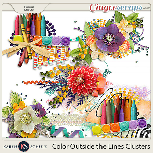 Color Outside the Lines Clusters by Karen Schulz