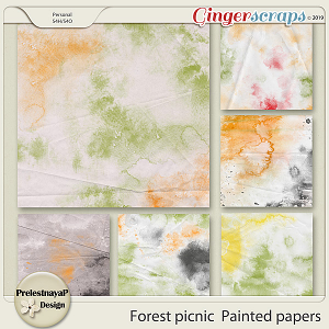Forest picnic Painted papers