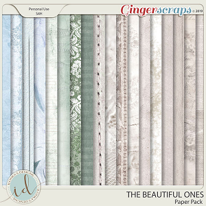 The Beautiful Ones Paper Pack by Ilonka's Designs