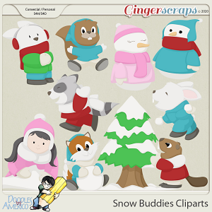 Doodles By Americo: Snow Buddies Cliparts