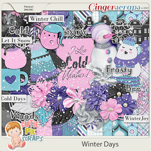 Winter Days Page Kit