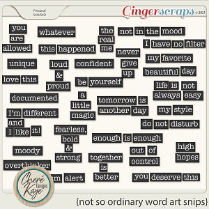 Not So Ordinary Word Art Snips by Chere Kaye Designs