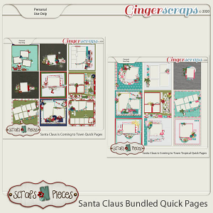 Santa Claus is Coming to Town Quick Page Bundle by Scraps N Pieces