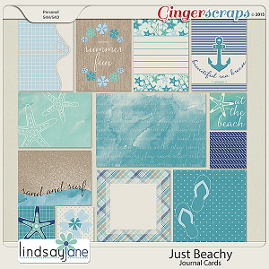 Just Beachy Journal Cards by Lindsay Jane