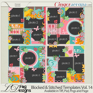 Blocked & Stitched Templates Vol.14 by LDragDesigns