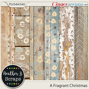 A Fragrant Christmas WEATHERED WOOD by Heather Z Scraps