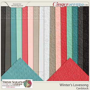 Winter's Lovesong Cardstock by Trixie Scraps Designs