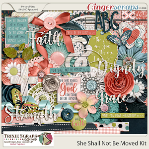 She Shall Not Be Moved Full Kit by Trixie Scraps Designs