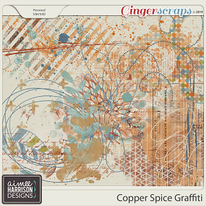 Copper Spice Graffiti by Aimee Harrison