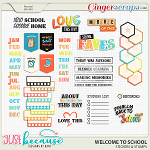 Welcome To School Stickers & Stamps by JB Studio