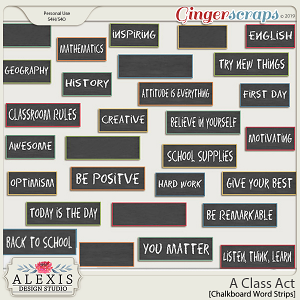 A Class Act - Chalkboard Word Strips