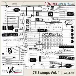 75 Stamps Vol. 1 Word Art