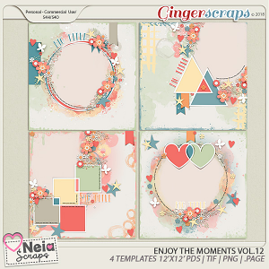 Enjoy The Moments - Templates VOL.12 - By Neia Scraps