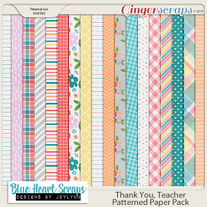 Thank You Teacher Patterned Papers