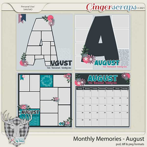 Monthly Memories - August by Dear Friends Designs by Trina