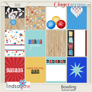 Bowling Journal Cards by Lindsay Jane