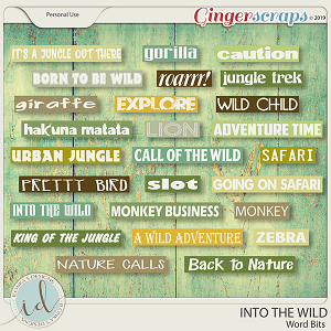 Into The Wild Word Bits by Ilonka's Designs