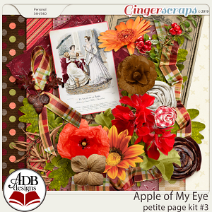 Apple of My Eye Petite Page Kit #3 by ADB Designs