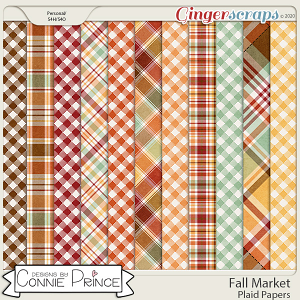 Fall Market - Plaid Papers by Connie Prince
