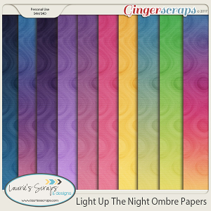 Light Up The Night Ombre Papers