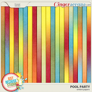 Pool Party Ombré Papers by JB Studio