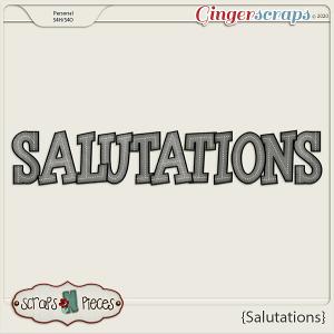 Salutations Alpha by Scraps N Pieces
