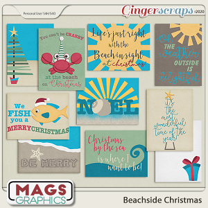 Beachside Christmas JOURNAL CARDS by MagsGraphics
