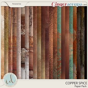 Copper Spice Paper Pack by Ilonka's Designs